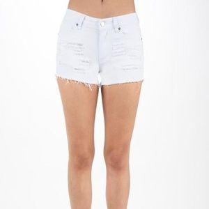 NWT HAMMER USA White Distressed Shorts Size Large